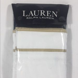 Ralph Lauren gold trim sham